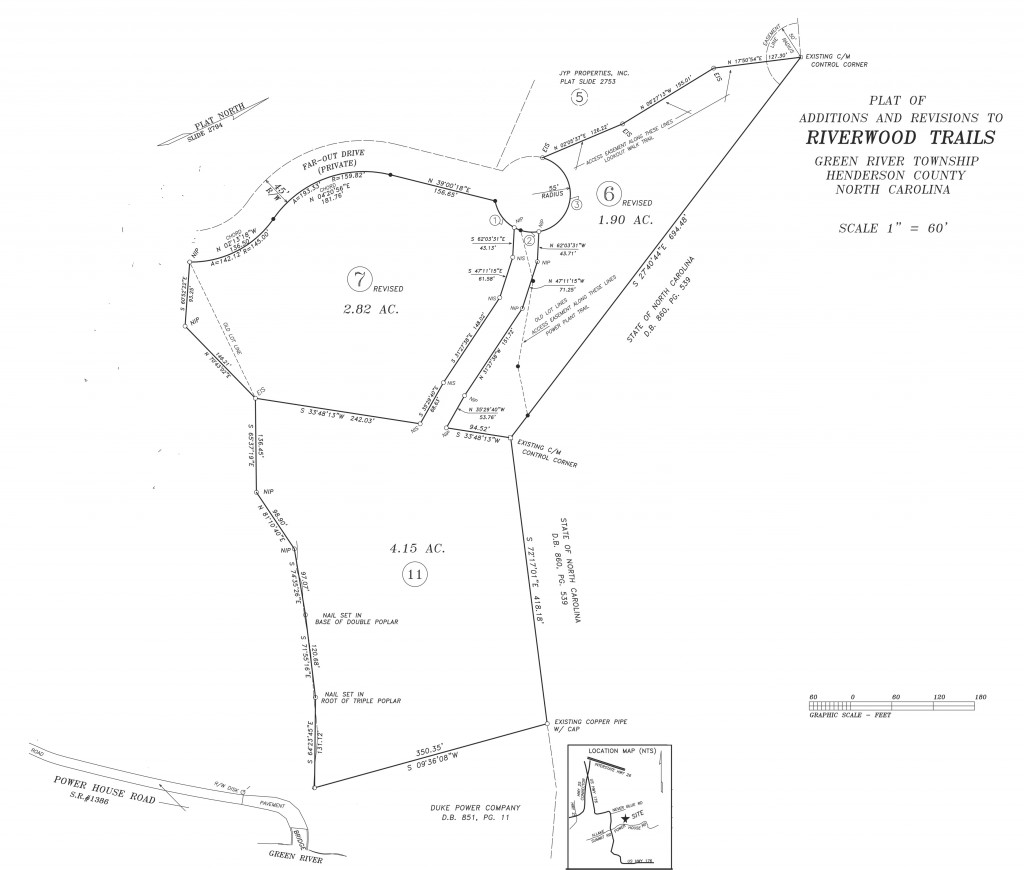 Riverwood Trails Map, NC land for sale